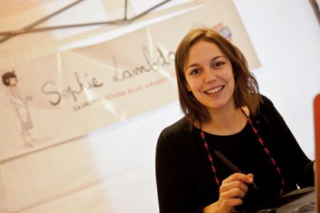 Au stand de Sophie Lamba également, il y a eu de l'affluence ce week-end...