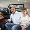 Hubert et ses deux fils ont visité le Musée de l'Aventure Peugeot avant de repartir à Marseille - Photo : Dominique Demangeot/Diversions