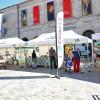 La place de la Révolution accueille ce mardi 15 juillet 2014 plusieurs animations à l'occasion du passage du Tour de France, comme ici Les Routes du Comté