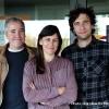 A la Scène numérique à Montbéliard, la chorégraphe DD Dorvillier entourée de Thomas Dunn et Sébastien Roux, respectivement créateurs lumière et sonore