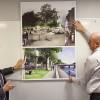 Martial Bourquin et Jean-Marc Kolb présentant le projet d'aménagement de la place du Temple - Photo : Caroline Vo Minh