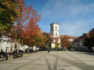 Place de la République et église Saint-Martin - Photo : Ville de Baume-les-Dames