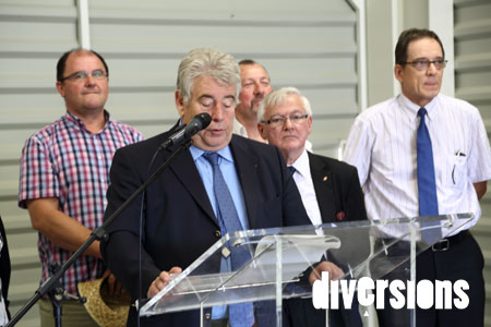 Jean-Louis Fousseret lors de l'inauguration de Graines de Maraîchers