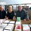 De gauche à droite Pierre Nétange, président de l'association Lives 90, Josiane Franchi, Jean-Marie Choffat et René Claudel devant les bacs en cour d'approvisionnement