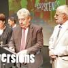 Anne Tanguy, directrice des 2 Scènes, Jean-Louis Fousseret, maire de Besançon et Abraham Bengio, président de l'EPCC Les 2 Scènes