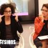 Héla Fattoumi présentant Manta lors de la conférence de presse des Vagamondes, aux côtés de la directrice de la Filature, Monica Gillouet-Gélys, le 20 novembre dernier - Photo : Caroline Vo Minh/Diversions