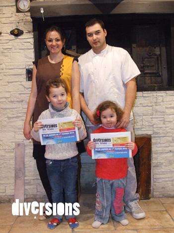 Benjamin Courageot et Cindy Cantarero en compagnie de leurs enfants Anthony et Luna