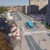 Perspective de la Ligne 3 Plus du TCSP sur la rue Voirin à Besançon