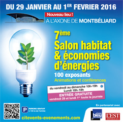Salon Habitat et Economies d'énergie 2016 à l'Axone de Montbéliard