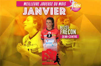 Alizée Frecon de l'ESBF joueuse du mois