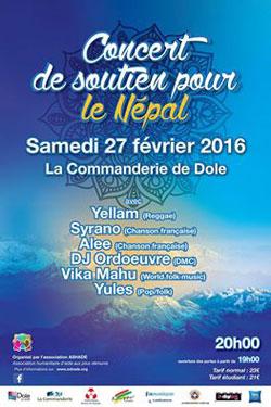 Soirée de soutien au Népal à la Commanderie de Dole