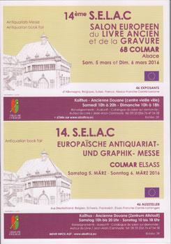 Colmar - 14e Salon européen du livre ancien et de la gravure les 5 et 6 mars