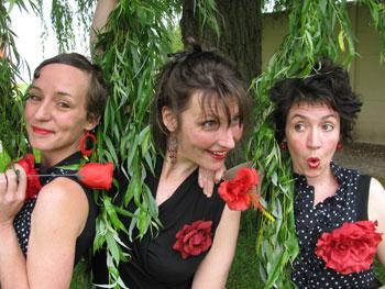Le trio des Touffes Qui Frisent au festival Au Bonheur des Dames 2016