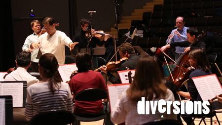 L'Orchestre Victor Hugo Franche-Comté durant l'enregistrement des Quatre saisons de Nicolas Bacri en février 2015, à l'Auditorium du Conservatoire du Grand Besançon - Photo : Diversions