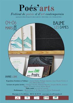 Festival Poés'arts 2016 à Baume-les-Dames