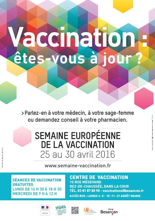 affiche semaine européenne de la vaccination