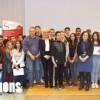 Paul Grosjean, président de la Chambre de Métiers Bourgogne Franche-Comté en compagnie des collégiens qui ont participé à l'opération Bravo les Artisans