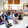 Atelier mené par Mylène Lilbermann dans une école de Planoise