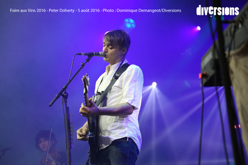 Peter Doherty à la Foire aux Vins de Colmar - Photo : Dominique Demangeot/DIVERSIONS