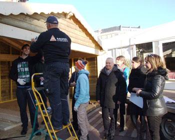 Installation du Chalet des Découvertes à Belfort à l'occasion du Mois Givré -