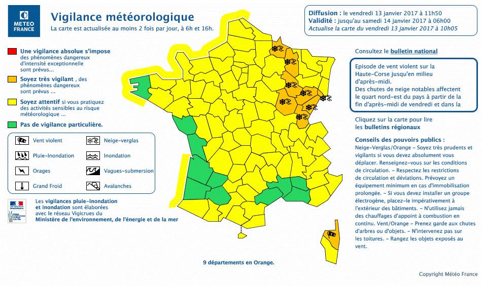 Territoire de belfort alerte m t o neige le 13 janvier - Meteo belfort demain ...