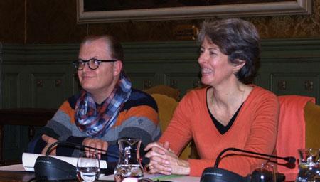 Les élus à la culture des Villes de Montbéliard et Belfort, Philippe Tissot et Marie Rochette de Lempdes, à l'occasion de la présentation du concours photo