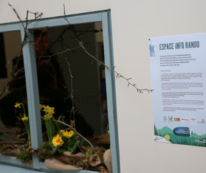 Espace Info Rando à la Maison de l'Environnement du Territoire de Belfort
