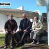 De gauche à droite : Frère Patrice Kervyn, Jean-Jacques Virot et sœur Marie-Claire - Photo : Noël Mourey