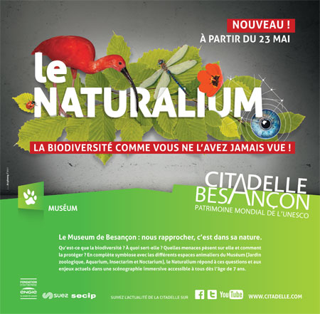 Ouverture du Naturalium à la Citadelle de Besançon le 23 mai 2017