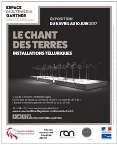 Exposition Le chant des terres à l'Espace Multimédia Gantner de Bourogne