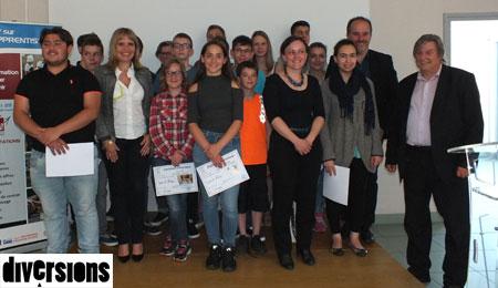 Les collégiens qui ont participé à l'opération 2016-2017 de Bravo les Artisans
