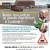 L'Expérimentarium à l'Usine le 11 juin au Bélieu