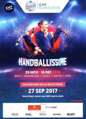 Euro 2018 de Handball féminin à l'Axone de Montbéliard en décembre 2018