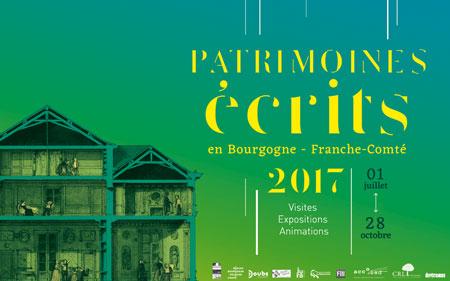 Patrimoine écrit en Bourgogne Franche-Comté 2017