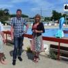 Patrice Delhotal (directeur de la piscine), Olivier Vahé (responsable des piscines et patinoire) et Florence Besancenot (adjointe chargée des équipements sportifs à la Ville de Belfort)