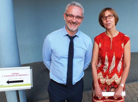 Olivier Prévot (1er vice-président de la COMUE de l'Université Bourgogne Franche-Comté) et Annie Lasne (maitre de conférence en sociologie) - Photo : Noël Mourey/Diversions