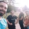 L'équipe d'Histoire d'un homme hors norme. De gauche à droite Damien Roz, Jean-Marie Choffat les gros bras, Renaud Thiriet et Marcelin Choffat
