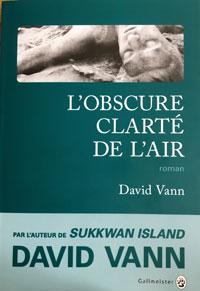 L'Obscure clarté de l'air de David Vann, à paraitre en octobre aux éditions Gallmeister