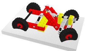 Modélisation d'un véhicule qui serait potentiellement constitué de catoms - Photo : FEMTO-ST