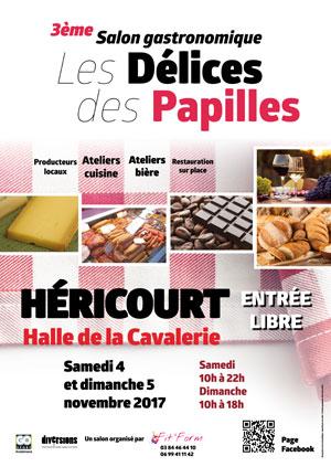 Les Délices des Papilles 2017 à Héricourt, Halle de la Cavalerie les 4 et 5 novembre 2017