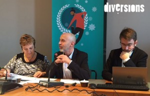 Macha Woronoff-Lemsi, Frédéric Muyard et Damien Charlet, vice-présidents - Photo : Caroline Vo Minh/Diversions