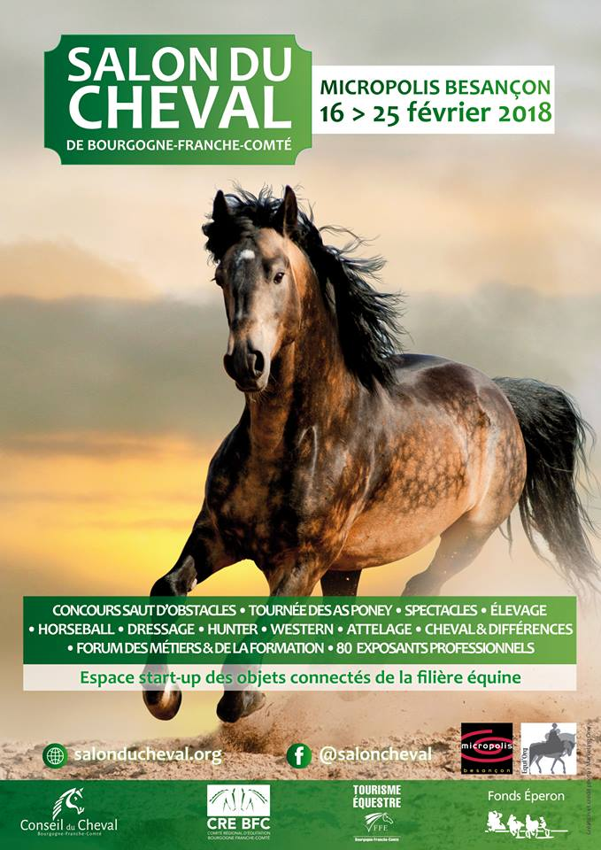 Besan on deuxi me salon du cheval micropolis du 16 au for Salon du cheval angers 2017
