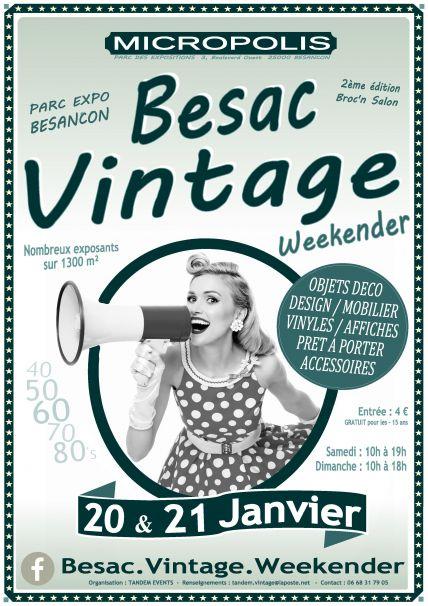 affiche besac vintage weekender 18