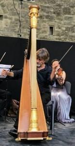 Le harpiste Fabrice Pïerre au festival Tetraktys en Franche-Comté