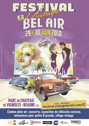 Festival Vintage Bel Air 2018 dans le parc de Vignoles-Beaune