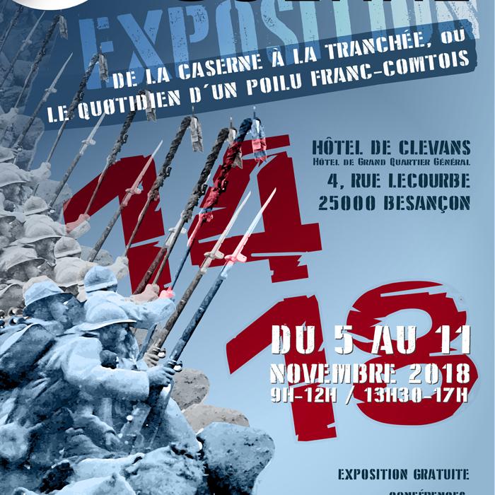 affiche expo grande guerre clévans