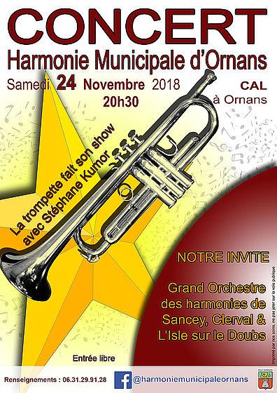 affiche concert harmonie ornans