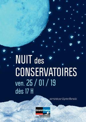 affiche nuit des conservatoires chalon