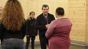 Christian Duchange lors d'un atelier du Nécessaire à Théâtre