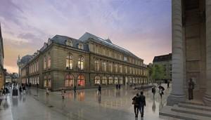Hypothèse d'aménagement de la place Sainte-Chapelle - Photo : Ateliers Lion Associés